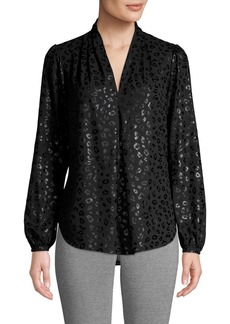 MICHAEL Michael Kors High-Low Printed Blouse