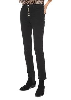 MICHAEL Michael Kors High-Rise Skinny Jeans in Black