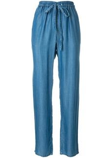 Michael Michael Kors high-waist straight-leg trousers - Blue