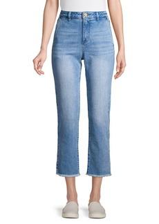 MICHAEL Michael Kors High Waisted Side-Slit Jeans