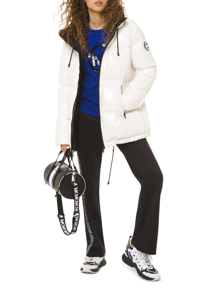 MICHAEL Michael Kors Hooded & Quilted Cir� Down Jacket