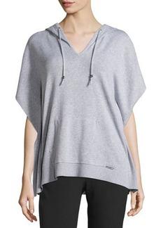 MICHAEL Michael Kors Hooded Short-Sleeve Poncho Sweater