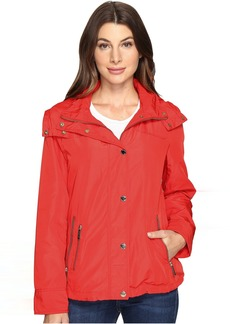 MICHAEL Michael Kors Hooded Snap Front Jacket M322087R