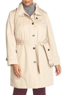 MICHAEL Michael Kors Hooded Trench Coat (Plus Size)