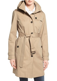 MICHAEL Michael Kors Hooded Trench Coat (Regular & Petite)