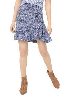 MICHAEL Michael Kors Ikat-Print Ruffled Mini Skirt