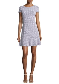 MICHAEL Michael Kors Jacquard Knit Flounce Dress