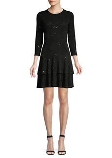 MICHAEL Michael Kors Jacquard Sequin Flounce Dress