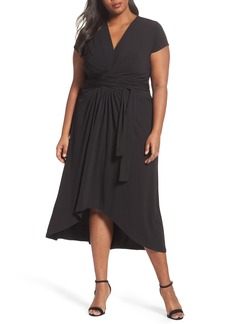 MICHAEL Michael Kors Jersey Wrap Maxi Dress (Plus Size)