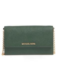 MICHAEL Michael Kors 'Jet Set - Large Phone' Saffiano Leather Crossbody Bag