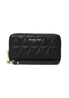 MICHAEL MICHAEL KORS Jet Set Travel Large Flat Leather Wristlet