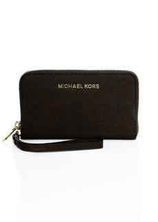 MICHAEL Michael Kors Jet Set Travel Large Saffiano Leather Smartphone Wallet