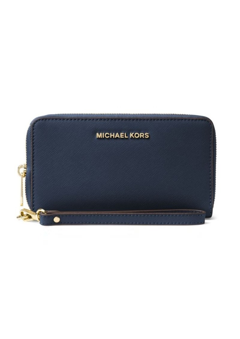 3165d27d06875e MICHAEL MICHAEL KORS Jet Set Travel Large Saffiano Leather Smartphone  Wristlet