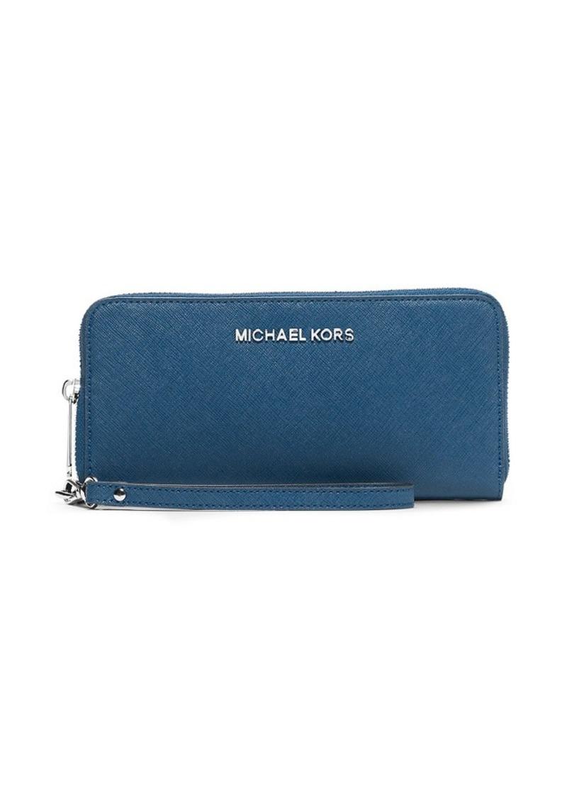 MICHAEL Michael Kors® Jet Set Travel Large Saffiano Leather Smartphone Wristlet