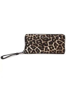 MICHAEL Michael Kors Jet Set Travel Leopard Leather Wallet