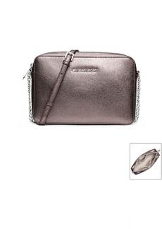 MICHAEL Michael Kors® Jet Set Travel Metallic Saffiano Leather Crossbody