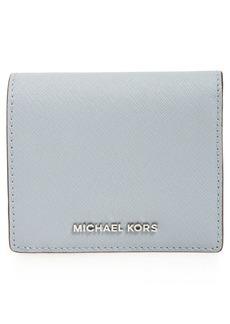 MICHAEL Michael Kors 'Jet Set Travel' Saffiano Leather Card Case