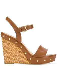 Michael Michael Kors Jill studded wedge sandals - Brown