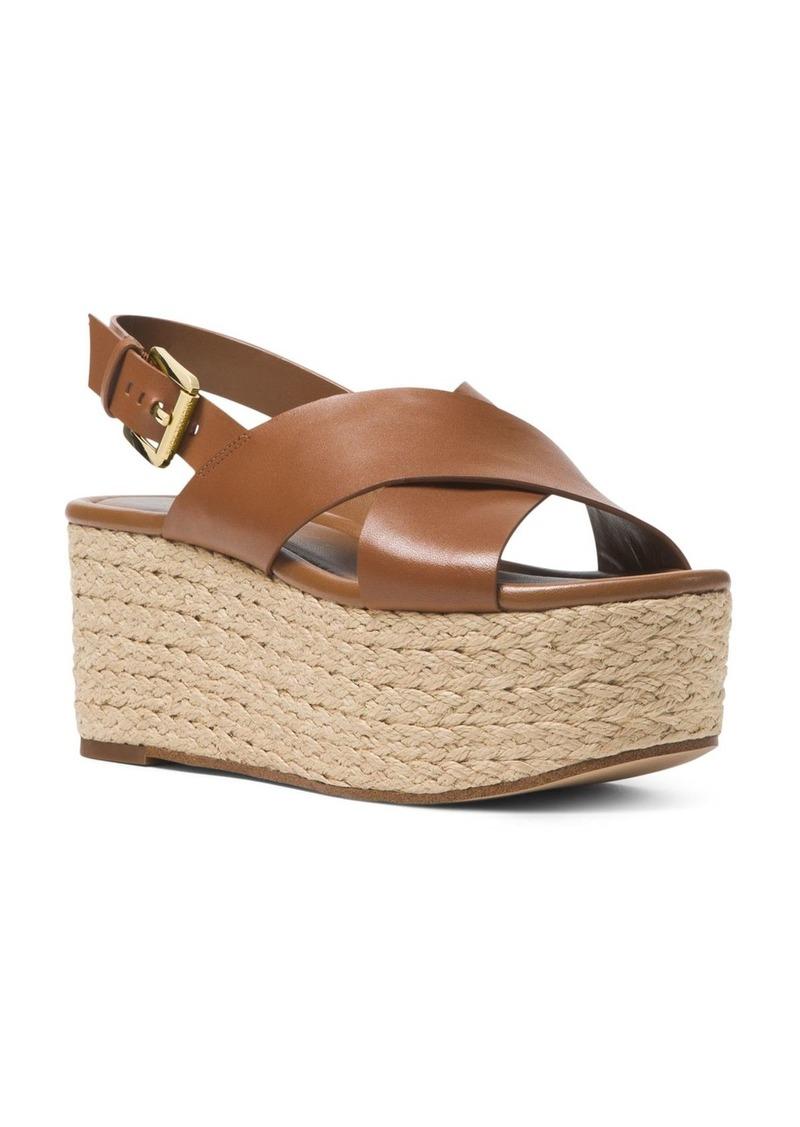 cd92ba0488 MICHAEL Michael Kors Jodi Leather Platform Wedge Espadrille Sandals