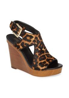 MICHAEL Michael Kors Josephine Genuine Calf Hair Wedge Sandal (Women)