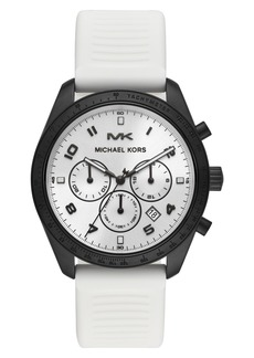 MICHAEL Michael Kors Keaton Chronograph Silicone Strap Watch, 43mm