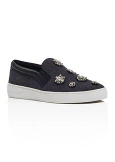 MICHAEL Michael Kors Keaton Embellished Slip On Sneakers