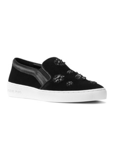 MICHAEL Michael Kors Keaton Velvet Embellished Slip On Sneakers