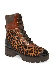 MICHAEL Michael Kors Khloe Genuine Calf Hair Combat Boot (Women)