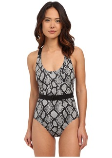 MICHAEL Michael Kors King Cobra Cross Back Maillot One-Piece