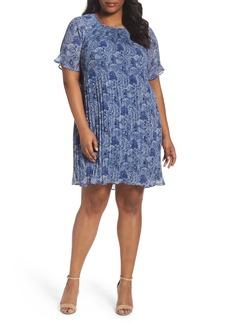 MICHAEL Michael Kors Kinley Pleat Shift Dress (Plus Size)