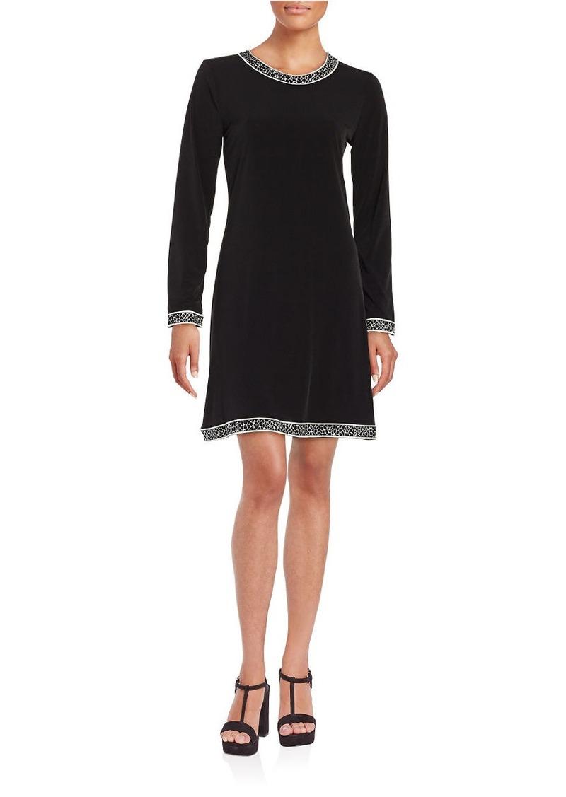 MICHAEL MICHAEL KORS Knit Contrast A-Line Dress