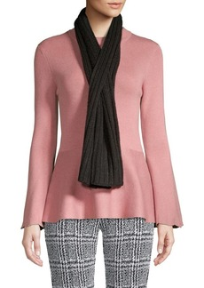 MICHAEL Michael Kors Knitted Ribbed Scarf