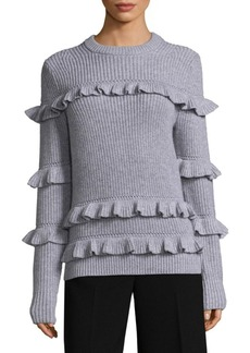 MICHAEL MICHAEL KORS Knitted Ruffled Sweater