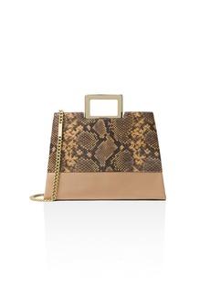 MICHAEL Michael Kors Kristen Top Handle Large Embossed Leather Satchel