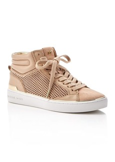 MICHAEL Michael Kors Kyle Perforated High Top Sneakers