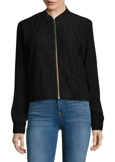 MICHAEL MICHAEL KORS Lace-Accented Bomber Jacket
