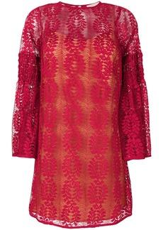 Michael Michael Kors lace bell sleeve dress - Pink & Purple