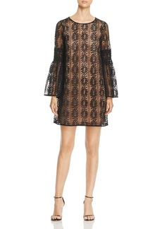 MICHAEL Michael Kors Lace Bell-Sleeve Dress