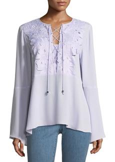 MICHAEL Michael Kors Lace-Bib Top with Kimono Sleeves