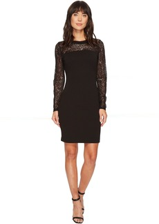 MICHAEL Michael Kors Lace Combo Long Sleeve Dress
