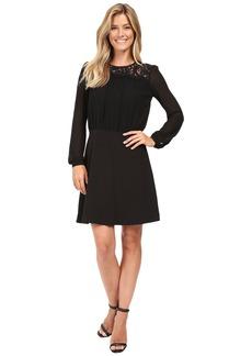 MICHAEL Michael Kors Lace Combo Long Sleeve Dress