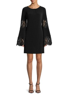 MICHAEL Michael Kors Lace-Inset Bell-Sleeve Dress