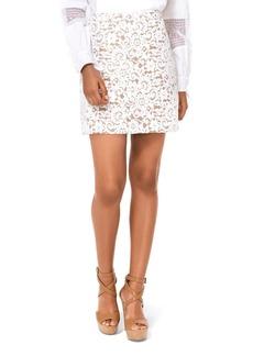 MICHAEL Michael Kors Lace Mini Skirt