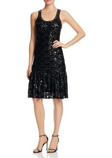 MICHAEL Michael Kors Lace Sequin Mesh Dress