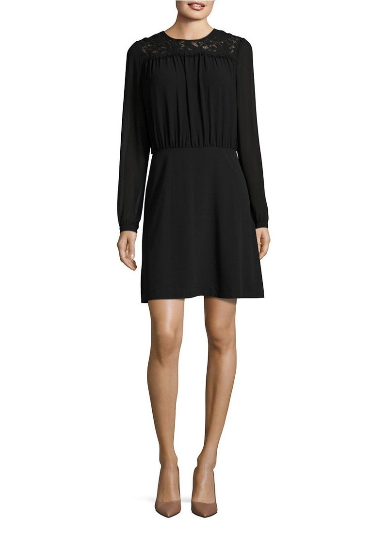 MICHAEL MICHAEL KORS Lace-Trim Fit-and-Flare Dress