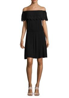 MICHAEL MICHAEL KORS Lace-Trimmed Off-the-Shoulder Dress