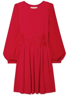 MICHAEL Michael Kors Lace-trimmed stretch-jersey mini dress