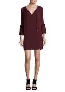 MICHAEL Michael Kors Lace-Up Bell Sleeve Dress