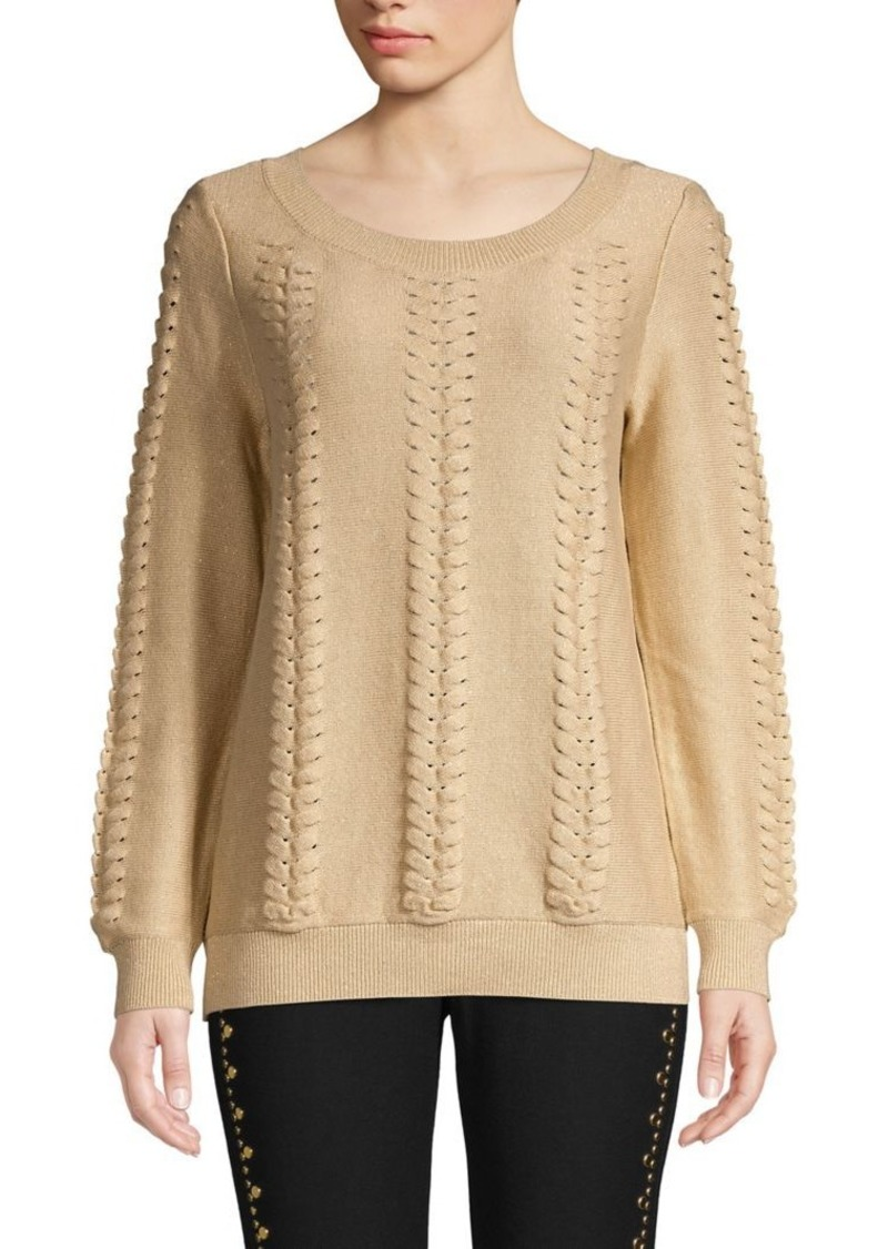 MICHAEL Michael Kors Lace-Up Cotton-Blend Sweater