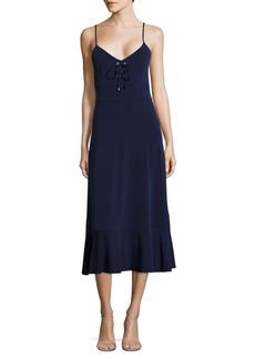 MICHAEL MICHAEL KORS Lace-Up Midi Dress